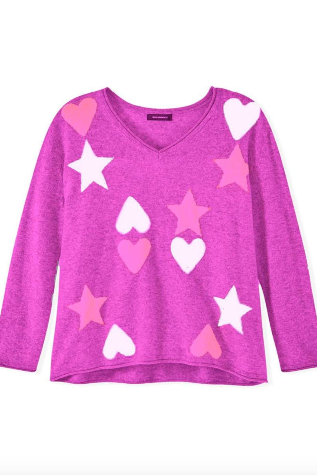525 America Hearts Stars Sweater - Front Cropped Image