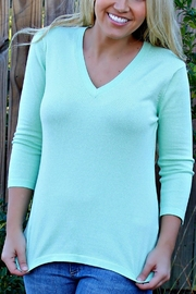 525 America Mint Cameron Sweater - Back cropped