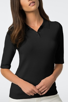 Shoptiques Product: Pointelle Sleeve Polo
