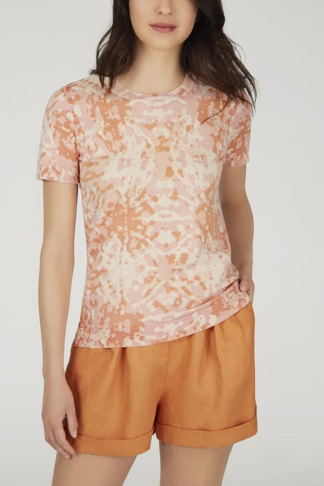 525 America Printed Knit Top - Front Cropped Image