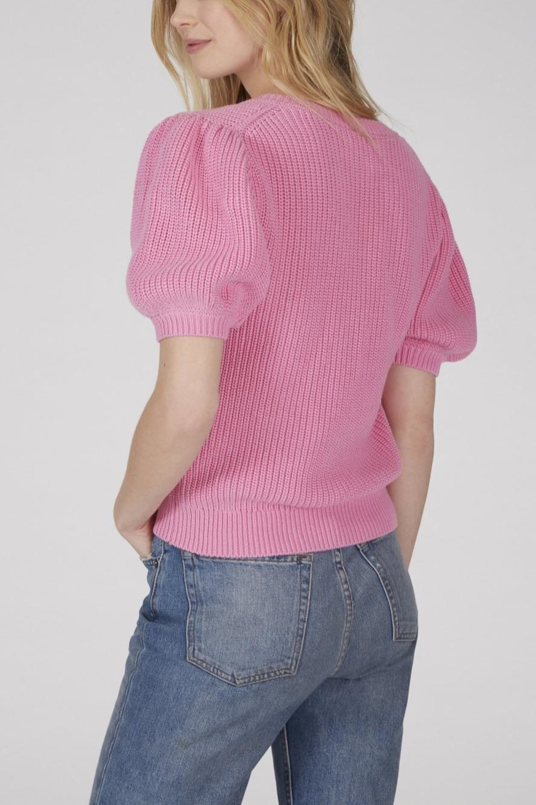 525 America Puff Sleeve Sweater - Side Cropped Image