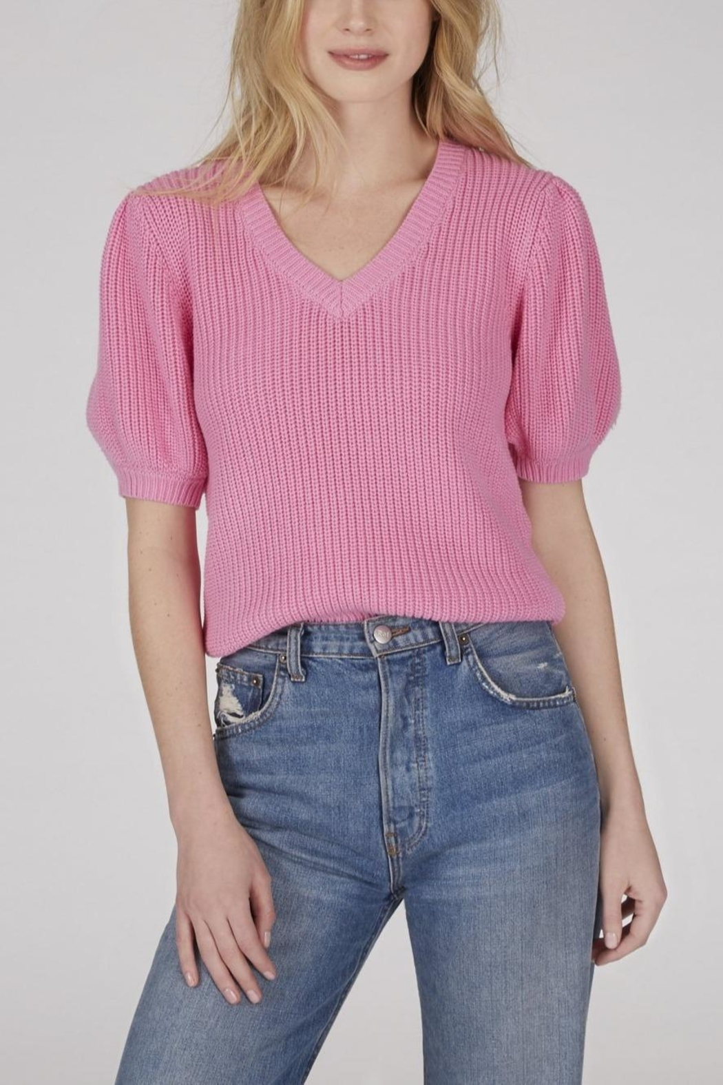 525 America Puff Sleeve Sweater - Front Cropped Image