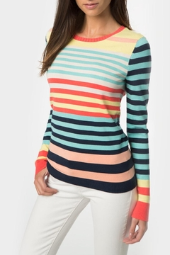 Shoptiques Product: Rainbow Stripe Crewneck