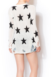 Star Shredded Sweater - Back cropped