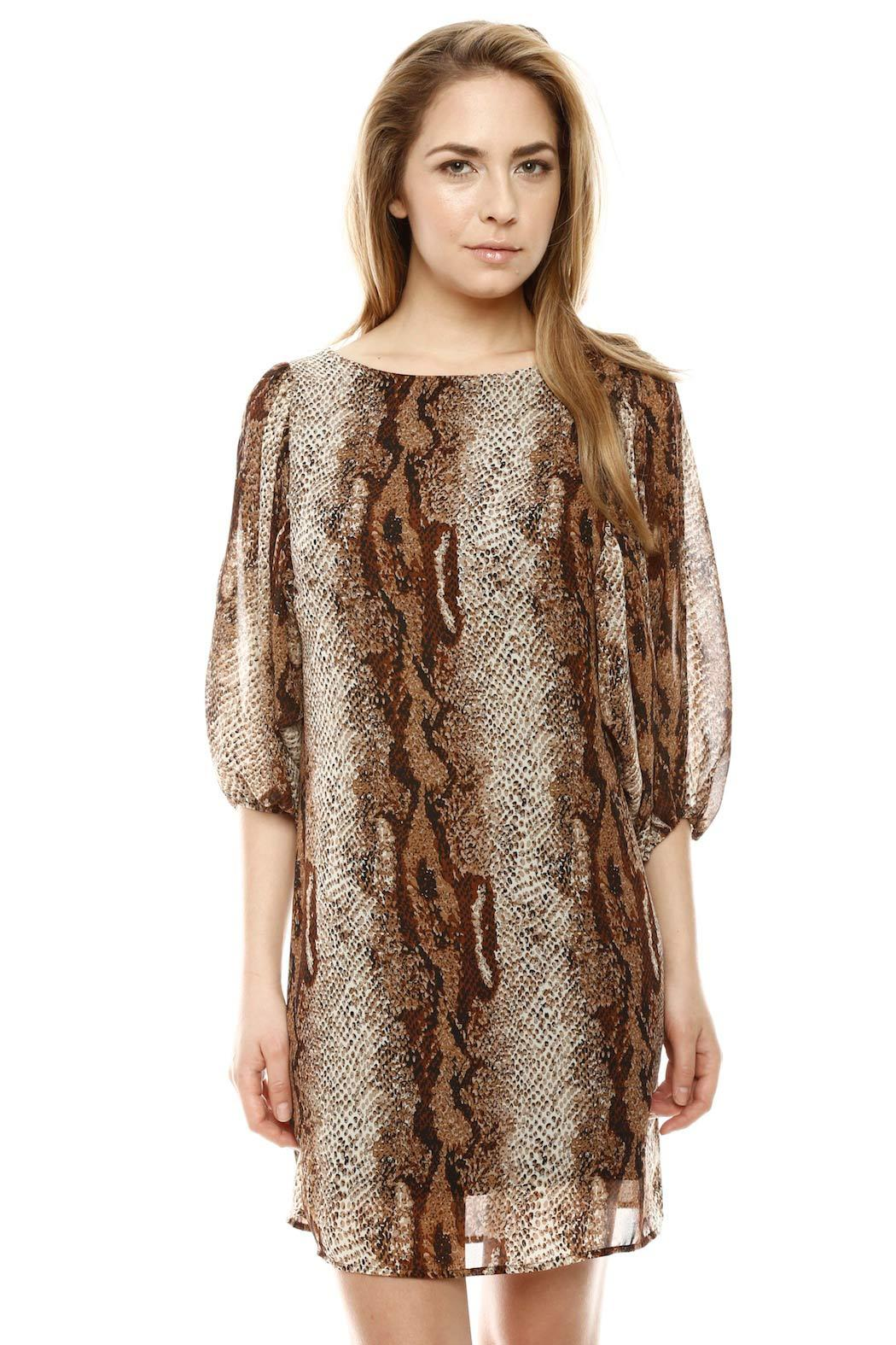 Auditions Fashion Snake Print Dress - Front Cropped Image