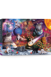 Fred and Friends 5280371 Galaxy Cats 1,000pc Puzzle - Product Mini Image