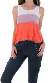 Double Zero Striped Sleeveless Top - Front cropped