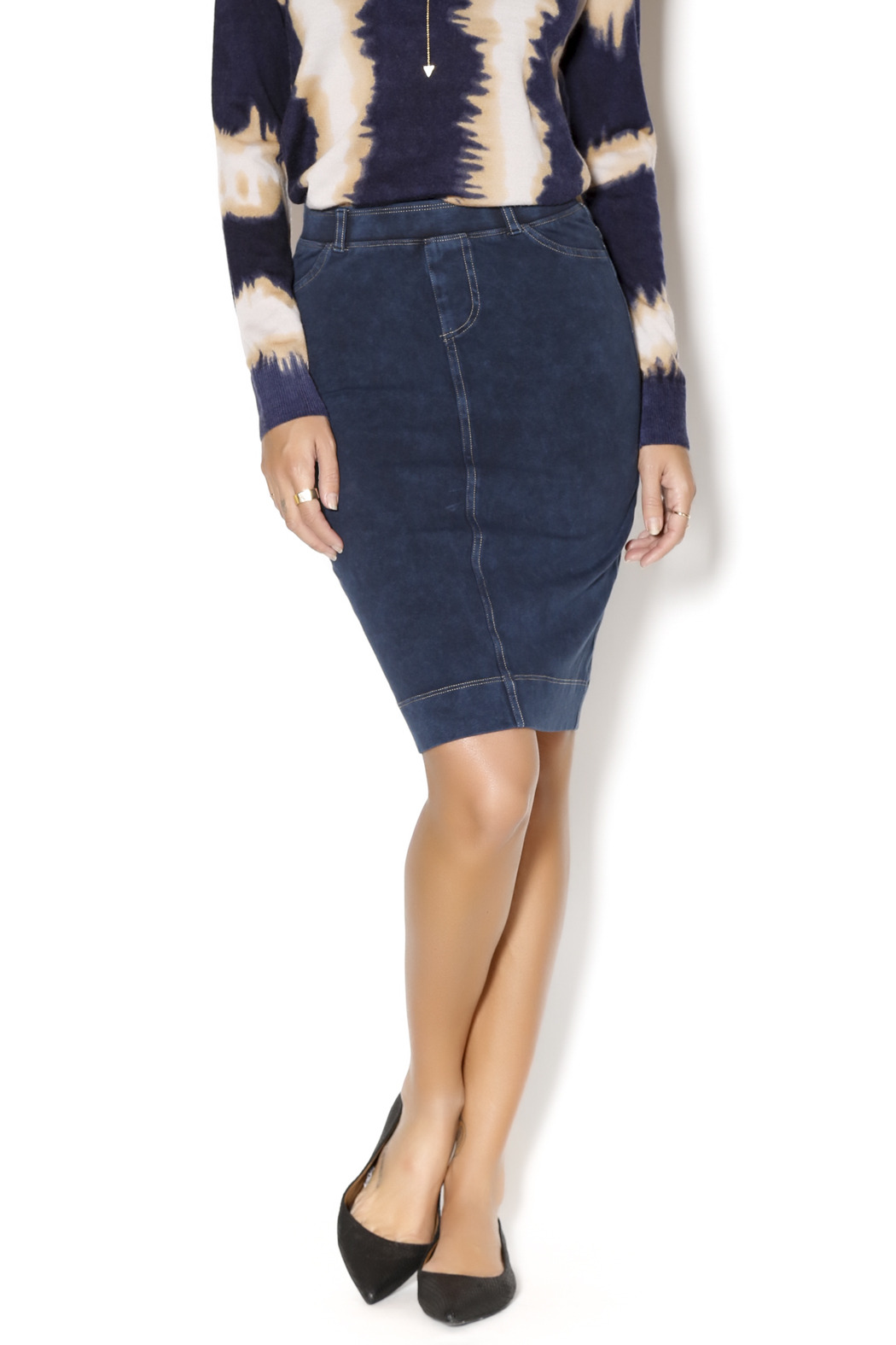 Hard Tail Forever Stretch Denim Pencil Skirt from New Jersey by ...