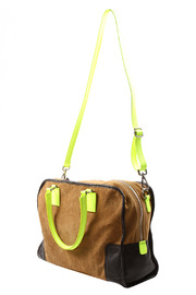 Alex-Max Suede Neon Bag - Front full body