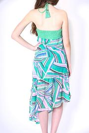 Flying Tomato Bright Green Halter - Side cropped