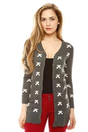 Shoptiques Product: Bow Print Cardigan