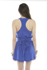 Shoptiques Product: Tie-Waist Silk Romper - Back cropped