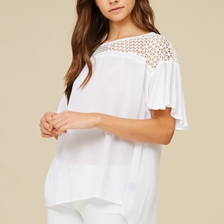 Shoptiques Product: Ivory Cut Out Top