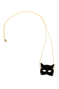 f_licie aussi Gold-Plated Cat Mask Necklace - Product List Image