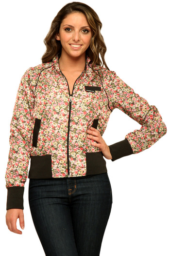 Members Only Floral Cotton Classic Bomber - Main Image