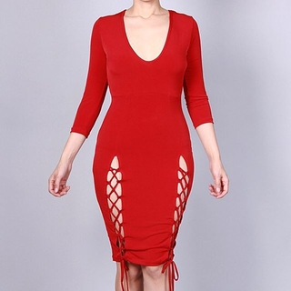 Unknown Factory Laceup bodycon dress - Instagram Image