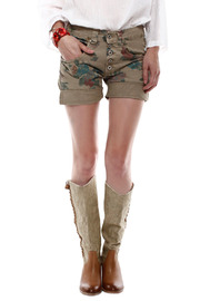 Baci Floral Print Shorts - Front cropped