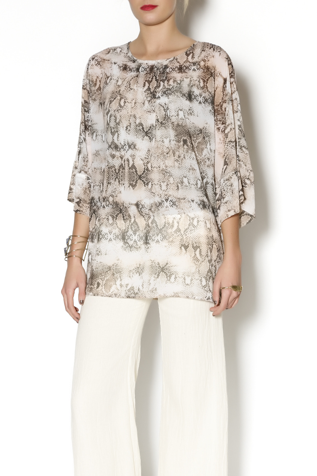 Julian Chang Snake Print Tunic - Main Image