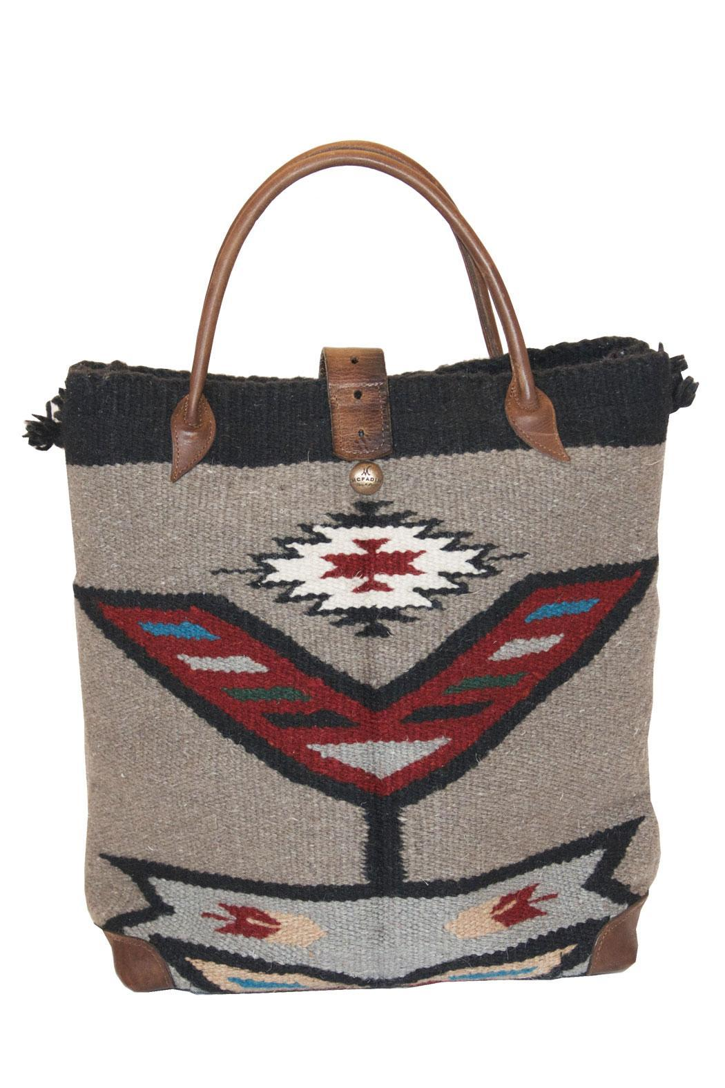 Mcfadin Navajo Wool Tote Back Cropped Image