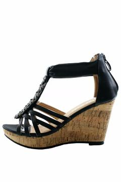 Top Moda Strappy Open-Toe Rhinestone-Wedges - Product List Image