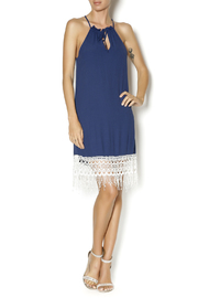 Lucy Love Navy Halter Dress - Front full body