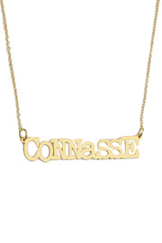 felicie aussi Gold Connasse Necklace - Front cropped