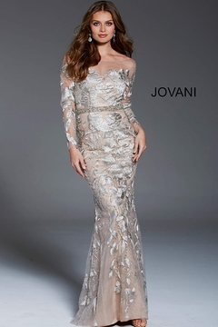 Jovani Illusion Long Sleeve Gown - Product List Image