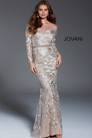 Jovani Illusion Long Sleeve Gown - Product Mini Image