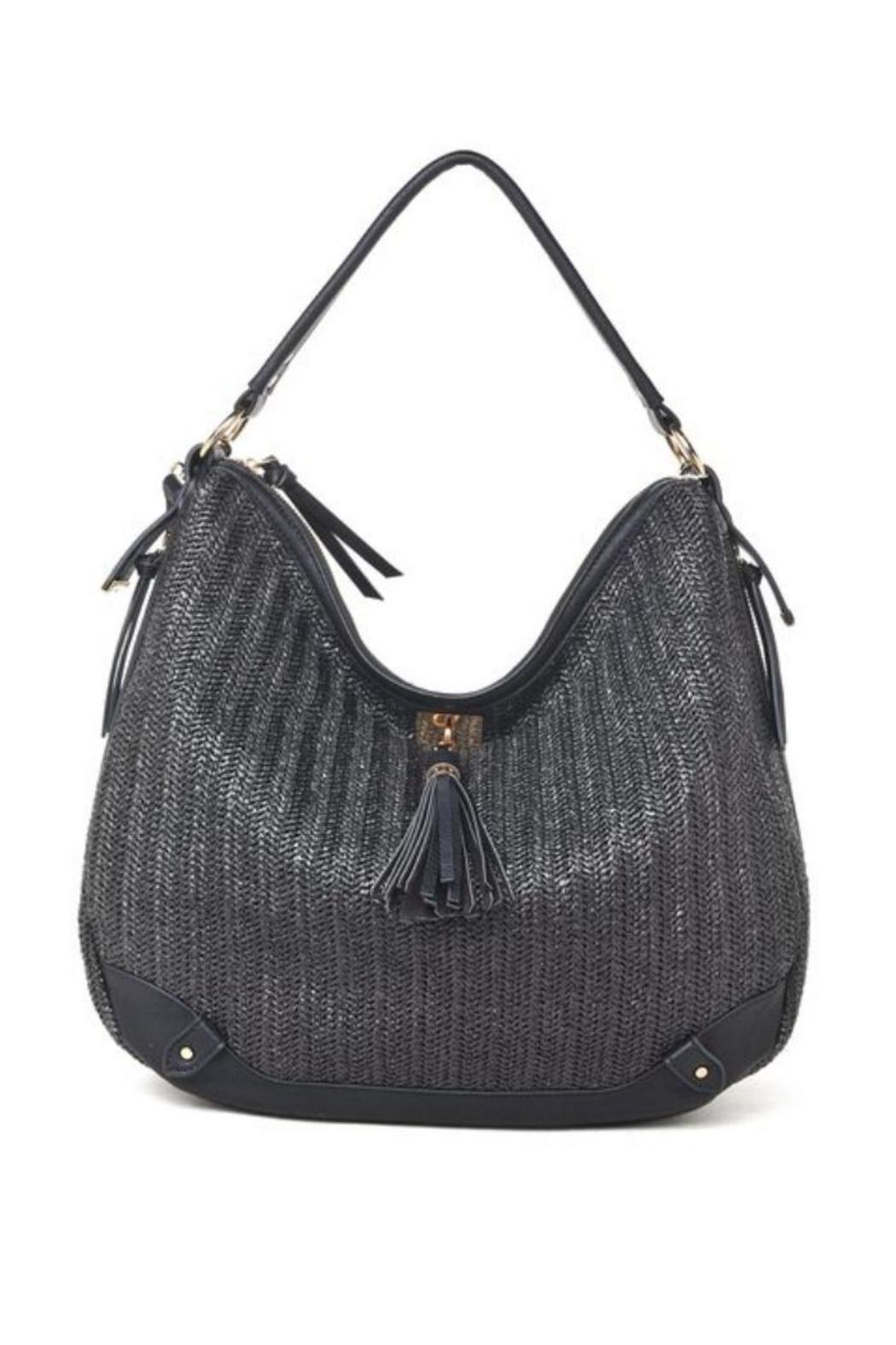Black Woven Hobo - Front Cropped Image