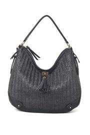 Black Woven Hobo - Front cropped
