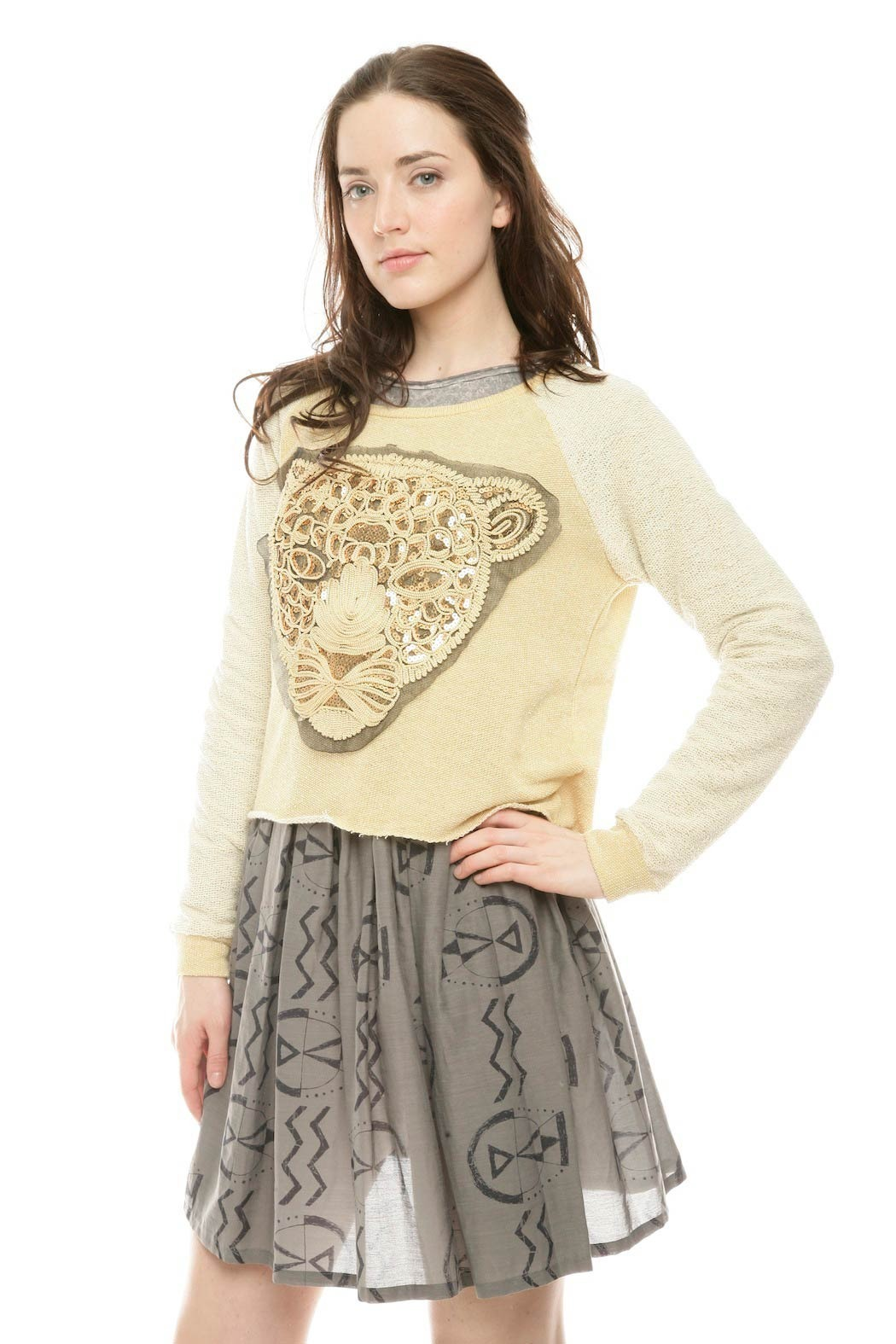 the Clas-sic King of the Jungle Sweater - Side Cropped Image