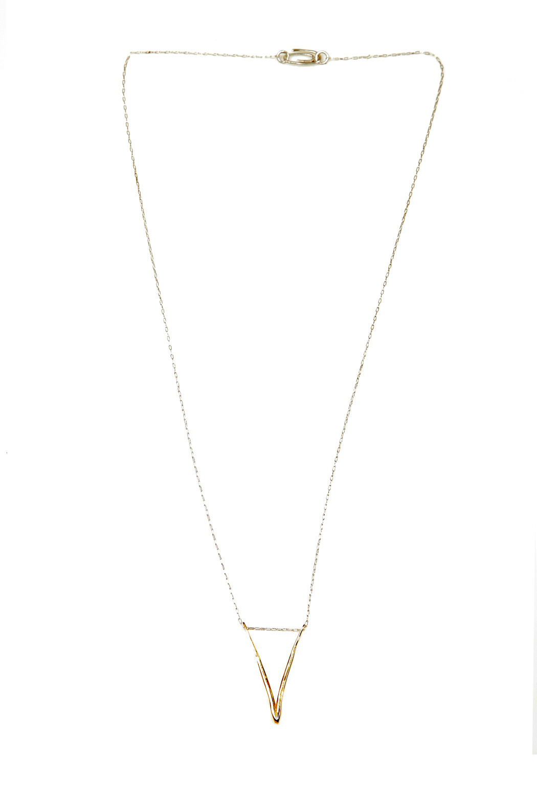 The J Line by Lady J Jewelry Gold Valentine Necklace - Front Full Image