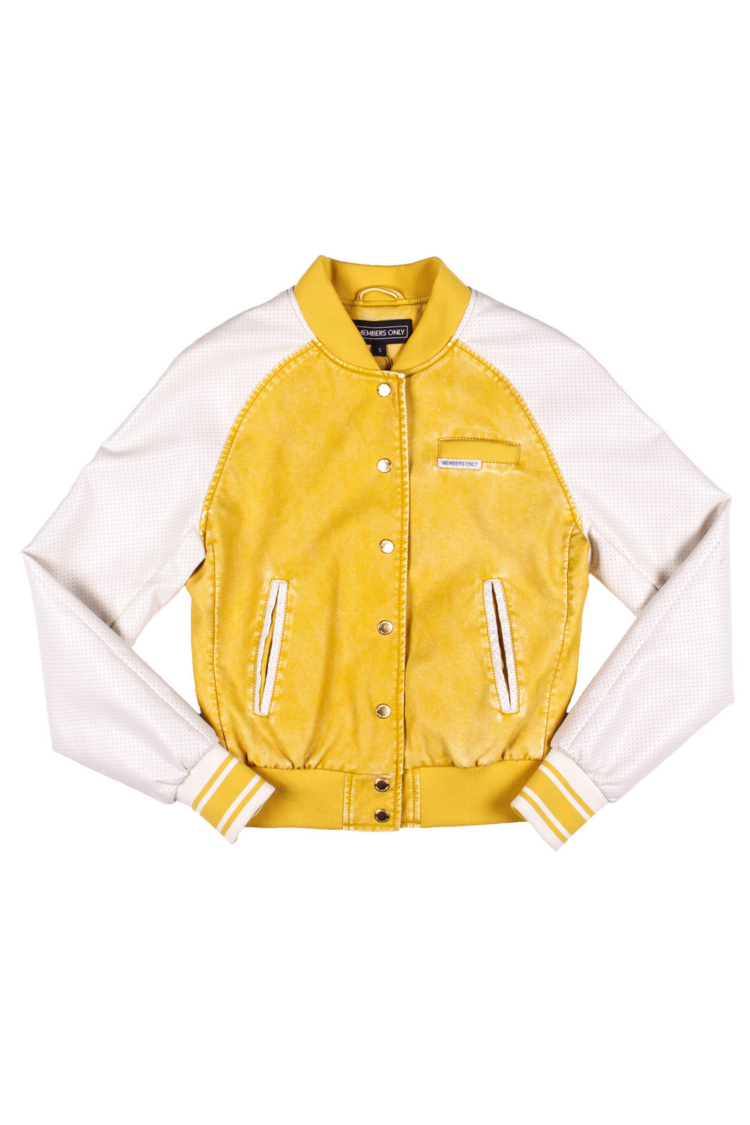 Members Only Washed Varsity Jacket - Front Cropped Image