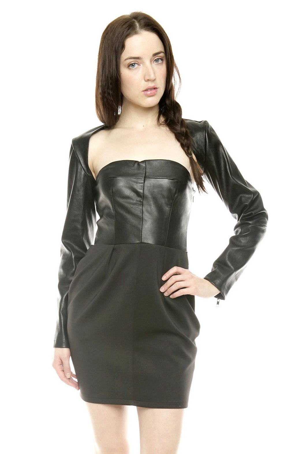 Lyudviga Couture Leather Sleeves - Main Image