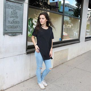 Shoptiques Oversized Riley Silk Tee