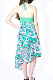 Flying Tomato Bright Green Halter - Back cropped