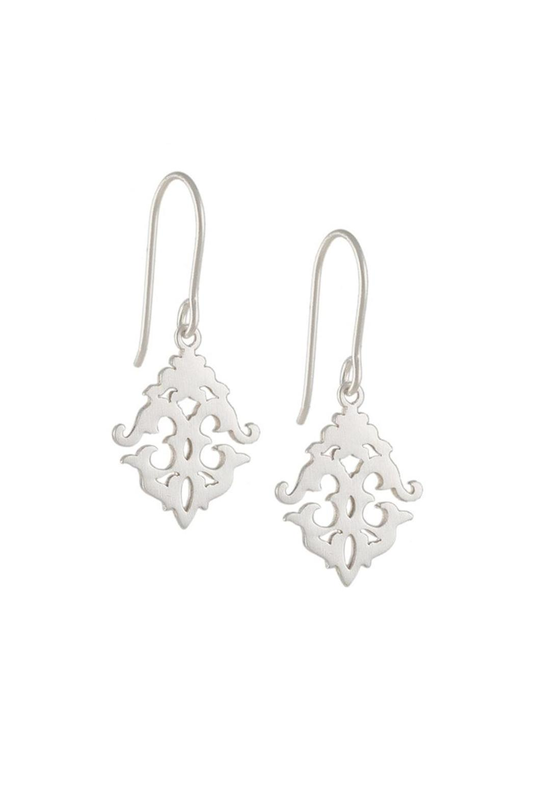 Tashi Sterling Baroque Earrings Front Cropped Image