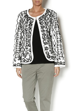 Shoptiques Product: Black White Cardigan