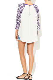 Rebecca Minkoff Print Sleeve Baseball Blouse - Other