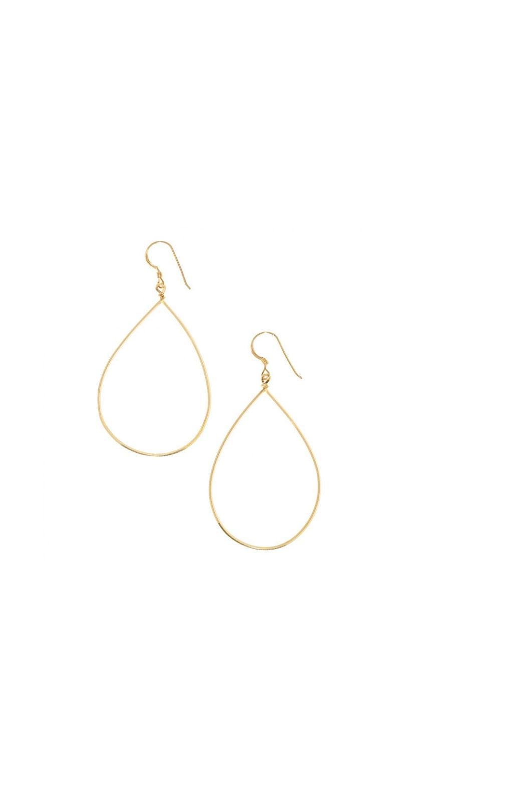 KTCollection Medium Teardrop Hoops - Front Cropped Image