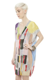 Shoptiques Product: Brush-Print Tunic - Side cropped