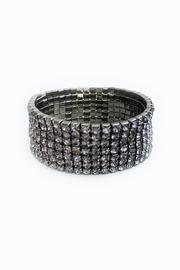 Bling Bling Sisters Grey Rhinestone Bracelet - Front cropped
