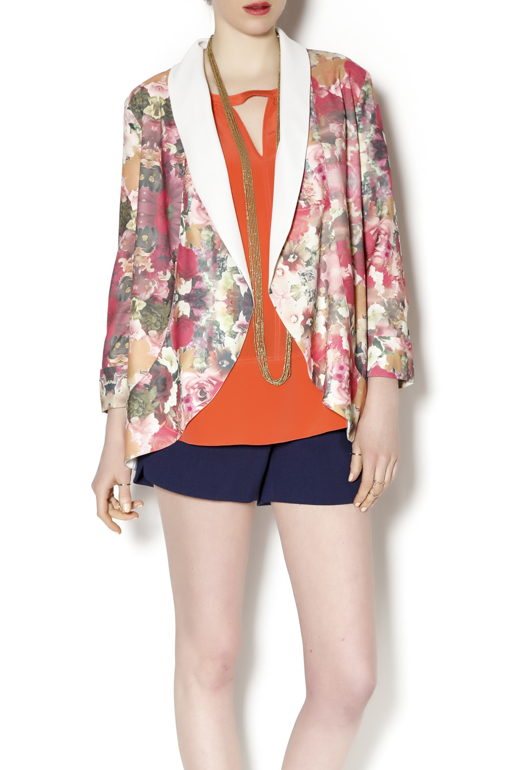 Gentle Fawn Floral Print Blazer - Main Image