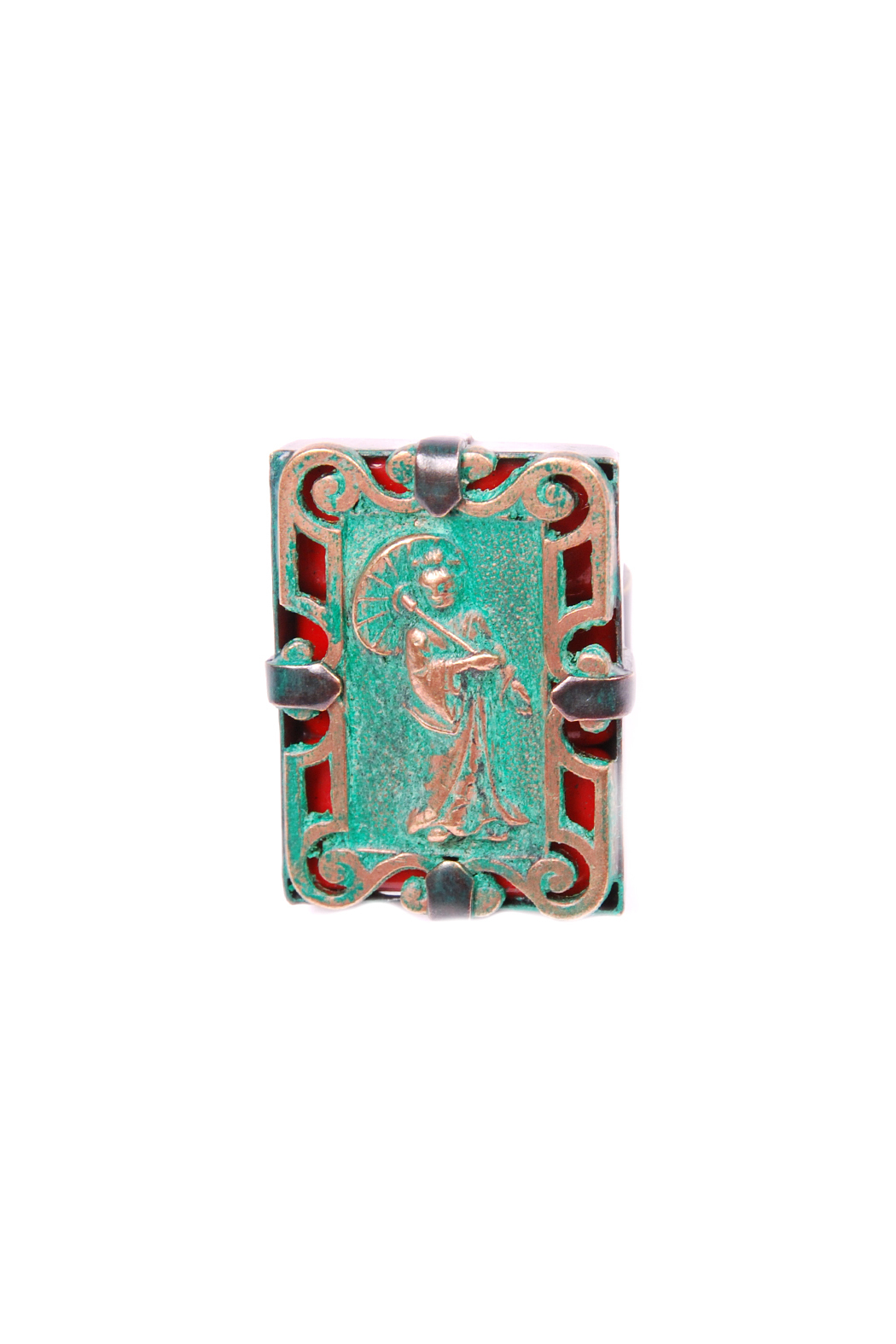 Jean-Louis BLIN Antiqued Geisha Plated Ring - Front Cropped Image