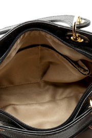 Passports Black Pebble-Leather Bag - Front full body