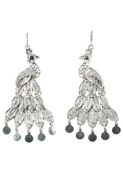 KTCollection Bohemian Peacock Earrings - Product Mini Image