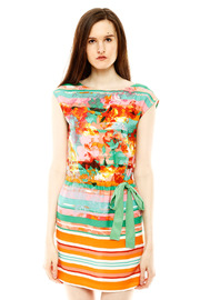 Ali Ro Vibrant Floral Dress - Front cropped