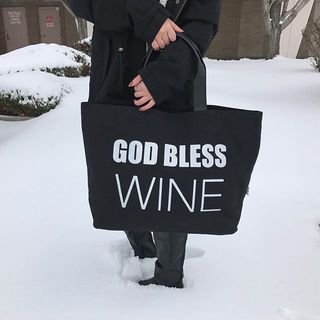 Shoptiques God Bless Wine Tote