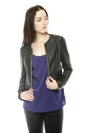 Shoptiques Product: Chain Trim Jacket - Front cropped