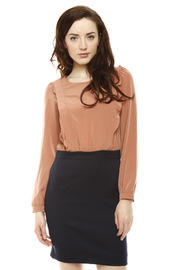 Shoptiques Product: Frill Long Sleeve Dress